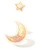 의상 달과 별의 장식 이미지