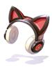 의상 고양이귀 사이버 헤드폰(적) 이미지