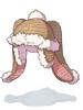 의상 토끼귀 니트모자 이미지