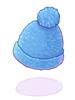 의상 파란색 털모자 이미지
