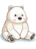의상 베이비 북극곰 이미지