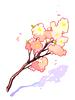 커다란 꽃가지 이미지