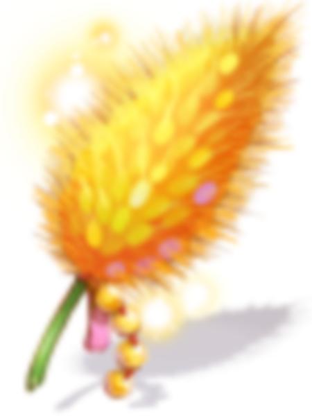 정교한 노랑 강아지풀 모형 이미지