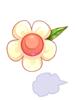 의상 하얀 꽃잎 이미지