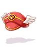 의상 빨간 날개 모자 이미지