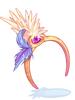 의상 발키리 깃털 모자 이미지