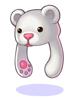의상 흰곰 모자 이미지
