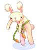 의상 늘어진 토끼 이미지