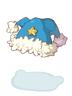 의상 파란 양갈래 산타모자 이미지