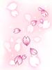 의상 흩날리는 벚꽃 이미지