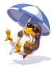 의상 날고 있는 갈라파고 이미지