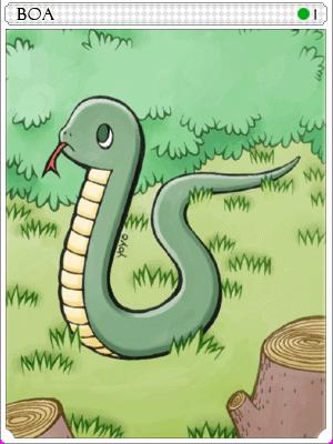 스네이크 카드 이미지