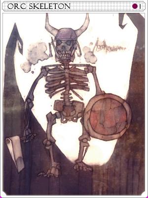 오크 스켈레톤 카드 이미지