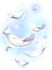 의상 흩날리는 천사의 날개 이미지