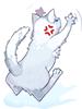 의상 할퀴는 고양이 이미지