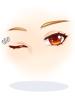 의상 깜빡이는 붉은 눈 이미지