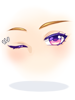의상 깜빡이는 보라색 눈 이미지