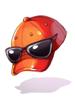 의상 선글라스 야구 모자 이미지